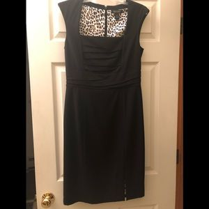 WHBM black sheath dress size 6 EUC